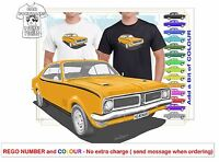 CLASSIC 70-71 HG MONARO COUPE ILLUSTRATED T-SHIRT MUSCLE RETRO SPORTS