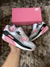 """Nike Air Max 90 """"White/Particle Grey-Rose Black"""" UK 7.5 Anniversry Pack EU 42"""