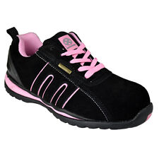 Ladies safety boot steel toe caps ankle trainers hiking shoes size 3-9uk women