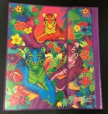 VINTAGE Lisa Frank Binder Trapper Keeper Rainbow 3 Tiger King 90s Jungle RAD vtg