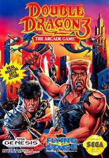Incorniciato SEGA GENESIS GAME stampa -- DOUBLE Dragon 3 (VIDEOGAME ARCADE CLASSIC FOTO)