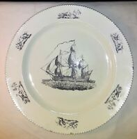 Antique English Liverpool Creamware Plate Early 19th Century