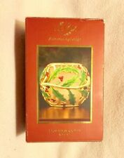 New Lenox Holiday Gold Votive 4� Candle Holly Red Berries in Box