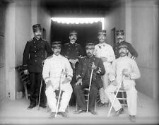 Photo. ca 1911. Mexico.  Officers in Mexican Revolution