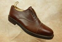 Johnston & Murphy Italy Brown Leather Cap Toe Casual Oxford Shoes Mens 9M US