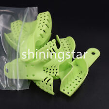 10 pcs Dental Orthodontic Plastic Disposable Impression Tray Kit With Perforated