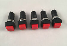 5 Pc x ARE Switch Push Button Red On - Off Square Type 6A 125V DIY Electronics