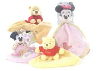OFFICIAL NEW DISNEY COMFORTERS CUTE BABY BLANKET WINNIE THE POOH MINNIE MOUSE