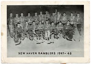 New Haven Ramblers 1947-48 hockey team photo! RARE! 13302