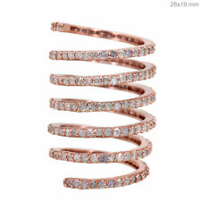 2.83ct Natural Diamond Pave Wedding Wrap Style Ring 14k Rose Gold Jewelry Size 7