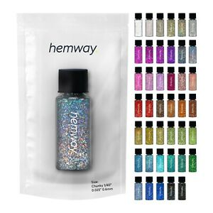 """Hemway   Chunky Glitter Tube Collection 1/40"""" 41 x 12.8G / 0.45oz  - All Colours"""