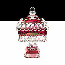 "8"" Westmoreland Crystal Wedding Ruby Red Flash Compote with Lid / Cover"