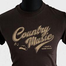 Country Music Retro T Shirt Western Folk American Nashville Cowboy Beer Cool brn