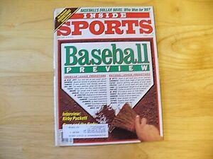 "Inside Sports Magazine - April 1989 - ""Baseball Preview"" - VINTAGE"
