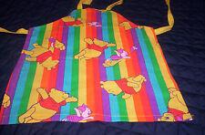 Handmade boys,  girls multi-color Winnie  Pooh,stipes cotton blend toddler apron
