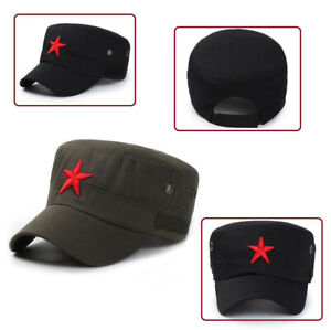 Red Star Military Army Cap Che Guevara Hat Men Hunting Fishing Trucker Tactical