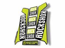 Rock Shox Reba 2016 Fork Decal Mountain Bike Cycling Sticker Adhesive Lime Green