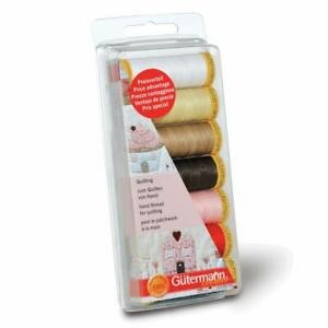 Gutermann Quilting Thread Set - 7 x 80m Reels Assorted Colours - Patchwork Waxed