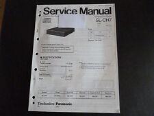 Original Service Manual Technics SL-CH7