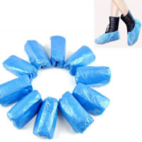 100x Disposable Plastic Boot Shoes Cover Waterproof Lab Cleaning Overshoes Charm