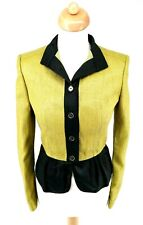 BNWT Burberry Prorsum Peplum Green & Black Jacket UK 8 - 10 USA 8 IT 42 GER 38