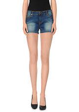 G.SEL shorts jeans donna effeto delave chiusura con zip e bottone in PROMO