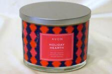 Avon Holiday Hearth 3 Wick Candle 11 oz New