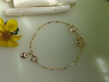 Goldarmband,585 goldfilled mit Kristall in aprikot