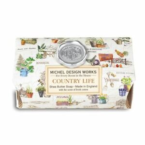 Michel Design Works Large 8.7 oz Artisanal Bar Bath Soap Country Life - NEW