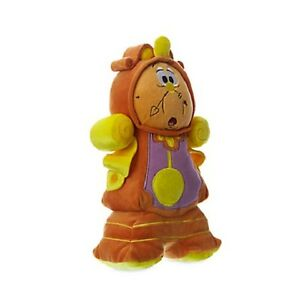 "Disney Beauty and the Beast Cogsworth Clock Plush Soft Stuffed Doll 10.5"" 26 cm"