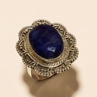 Natural African Sapphire Ring 925 Sterling Silver Women Vintage Fine Jewelry New