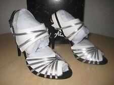 Sam Edelman Shoes 6.5 M Womens New Harlette Silver Black Patent Leather Heels