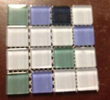 Glass Tile Mosaic Kitchen Bath Wall: Blue Green purple - sample size