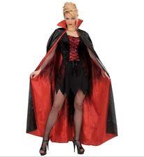 MANTELLO NERO/ROSSO FODERATO Widmann Carnevale Halloween Vampiro 115 7150B