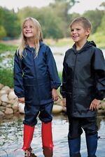 CHILDS REGATTA STORMBREAK WATERPROOF JACKET & TROUSERS SET SUIT BOYS GIRLS KIDS