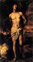 """Stunning Oi painting Tiziano Vecellio - The Death of St. Sebastian canvas 36"""""""