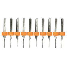 10pcs 0.8mm Micro Carbide PCB CNC Print Hard Alloy Drill Bits Rotary Tool Set