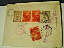 1950 Register Mail Athens Airline Dyestuff Industry Ltd. to New York. Adv. Cover