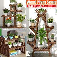 Wooden Plant Flower Rack Stand Multi-Tier Holder Pot Storage Home Display Shelf