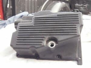 Harley Dyna Super Glide & Low Rider Black Transmission Oil Drain Pan w/ Baffle