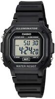 Casio Illuminator Men's Quartz 7 Year Battery Black Resin 42.5mm Watch F108WH-1A