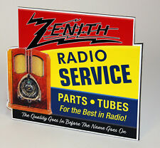 New ListingZenith Radio Tubes Service Dealer Stand up ad Sign
