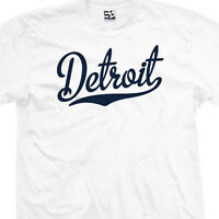 Detroit Script Tail T-Shirt - All Star Sports Team Jersey Tee All Sizes & Colors