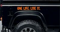 ORANGE ONE LIFE LIVE IT, STICKERS,  LAND ROVER, Camel Trophy, 4x4 Off Road,