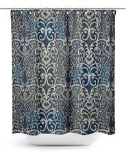 S4Sassy Geometric Bathroom Decor Shower Curtain Drapes Mildew Resistant-GMD-2F