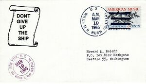 USS William R Rush DD 714 Two Postmarks Dont Give Up The Ship March 19, 1965