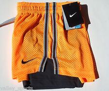 NEW! Atomic Mango [XS] NIKE PRO Women's DRI-FIT Double-UP Shorts X- Small