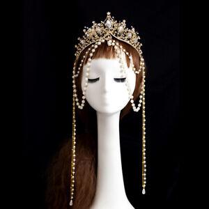 Vintage Women's Beads Chain Tassel Headband Fancy Dress Party Costume Headwear