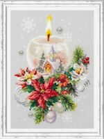 Counted Cross Stitch Kit MAGIC NEEDLE - CHRISTMAS CANDLE