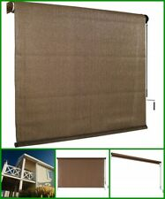 4 Ft Window Sun Shade Blind Roller Up Cordless Outdoor Shade Home Patio Mocha